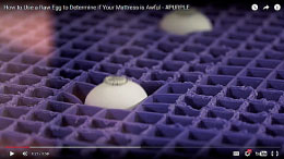 purple39s clever egg test racks up online views wins fans With egg test mattress