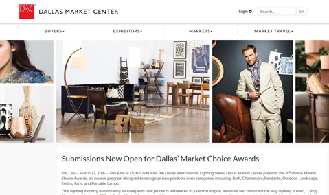 Dallas Market Center Choice Awards website