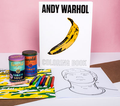 Andy Warhol Coloring Book, Crayons in a Soup Can | Gifts & Dec