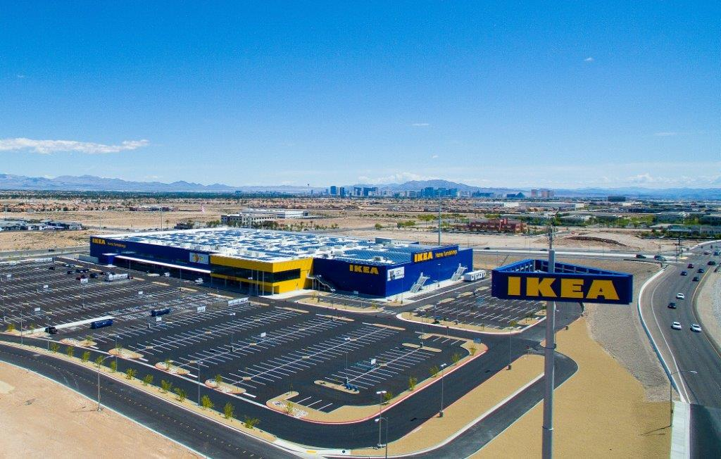 The new IKEA store in Las Vegas.