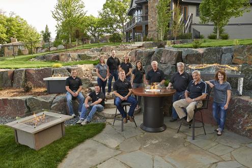 Outdoor greatroom company relocates office casual living for Great outdoor room company