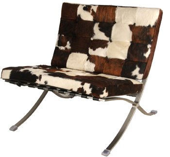 New Pacific Direct Pony Hide Chair
