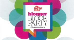 HGTV blogger party logo
