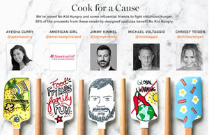 Williams-Sonoma celebrity spatulas