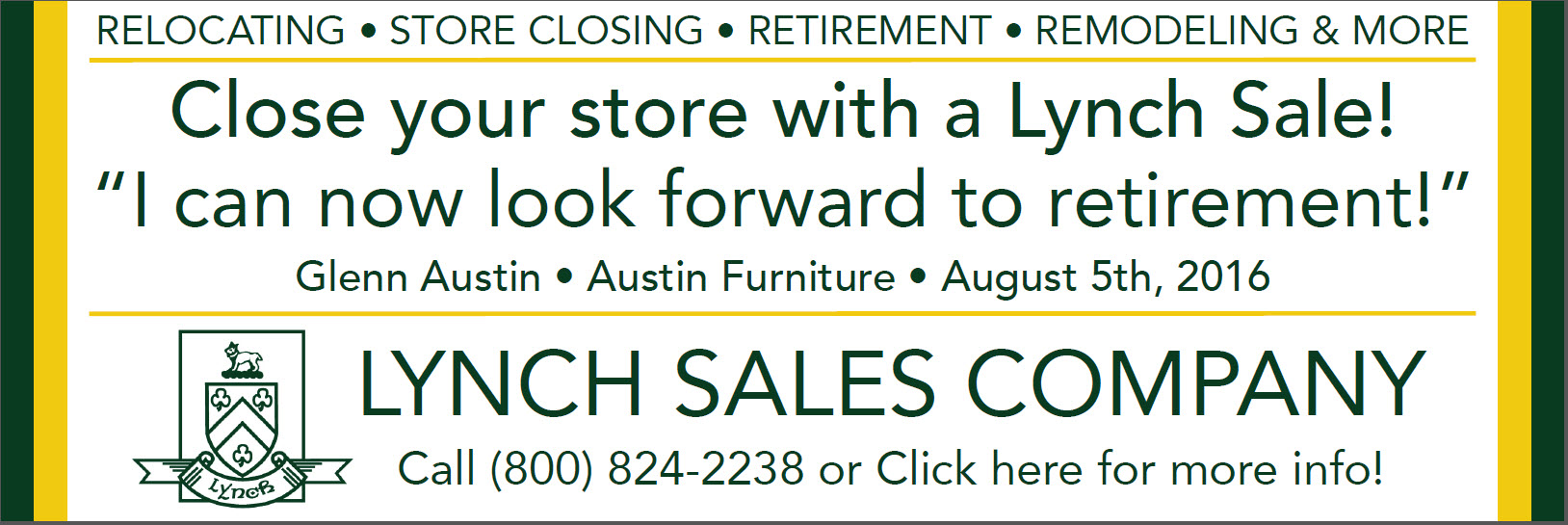 Close Your Store with a Lynch Sale