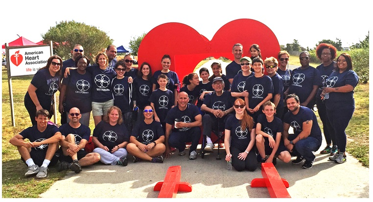 Crystorama walks for American Heart Association