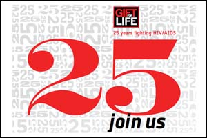 Gift for Life 25th anniversary logo
