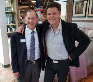 Osmond was on hand to promote Donny Osmond Home furniture and accessories.