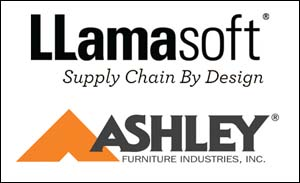 Llamasoft and Ashley logos