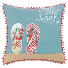 Eastern Accents flipflops pillow