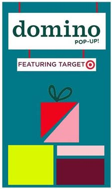 Domino holiday pop-up shop