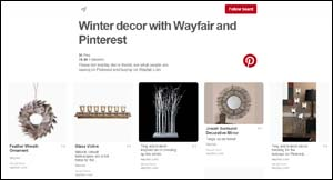 Wayfair and Pinterest board on top holiday trends