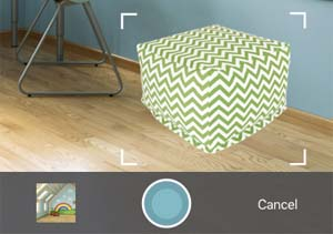 Wayfair View in Room app feature