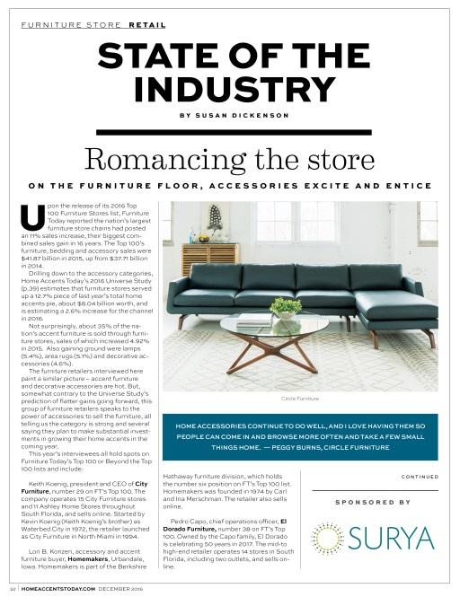 ... Sales Increase, Furniture Stores