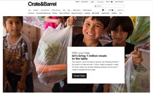 Crate and Barrel Feeding America