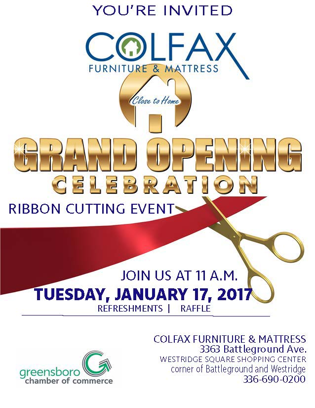 Bon Colfax Furniture U0026 Mattress Ribbon Cutting Invite