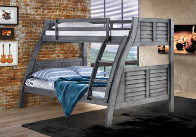 The Easton gray bunk bed by Powell Home Fashions