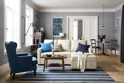 Pottery barn debuts small spaces collection home textiles today - Ideen ordnungssysteme hause pottery barn ...