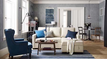 Pottery Barn Bellevue sofa
