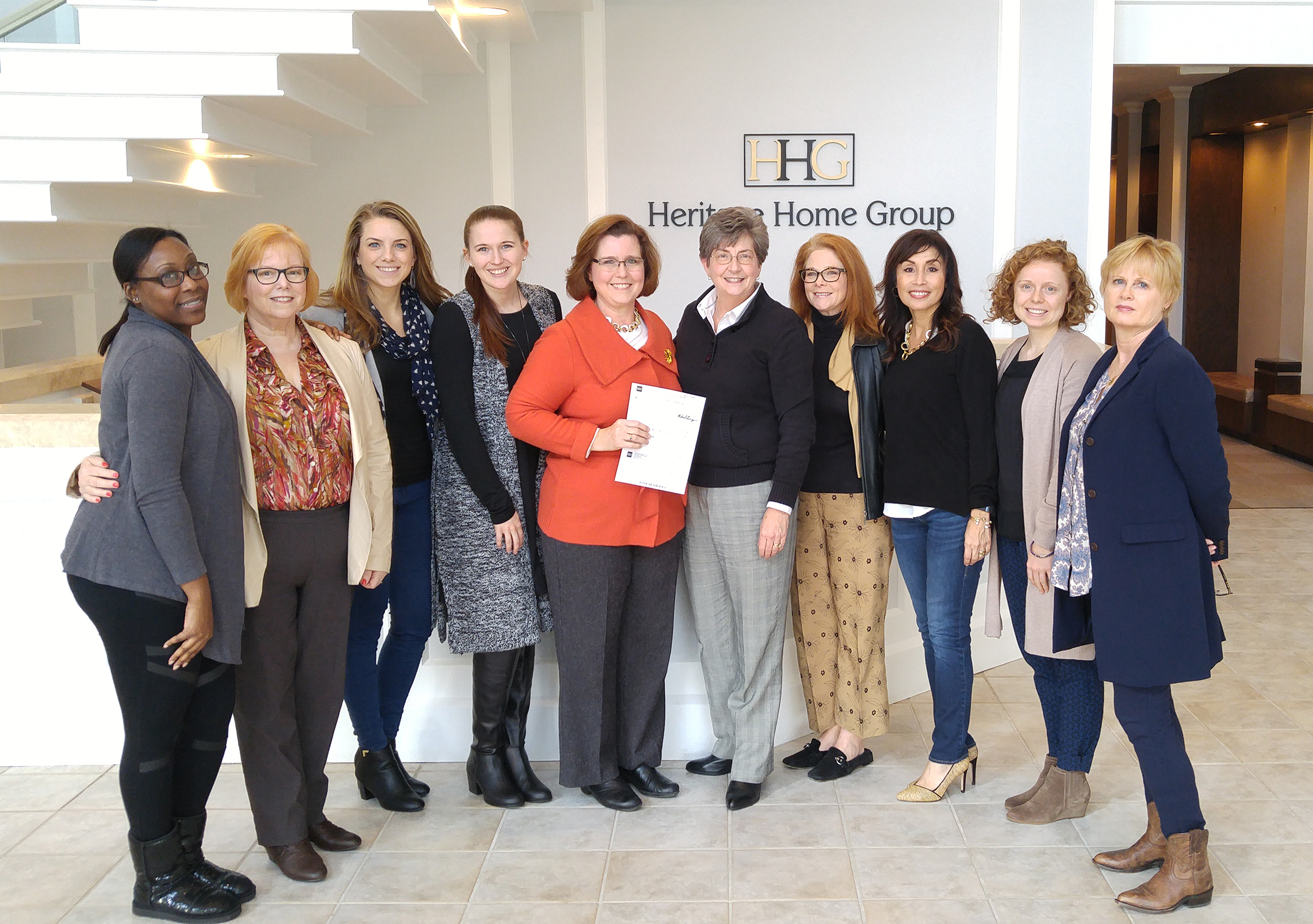 The $30,000 award from Heritage Home Group will be used to fund scholarships.