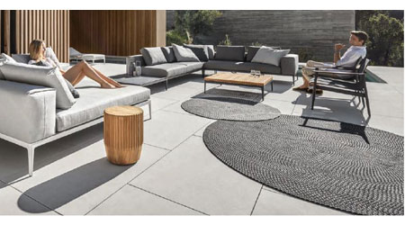 Exceptionnel SOUTH BOSTON, Va. U2013 Gloster Is Introducing New Occasional Items, Including  Heavy Duty Outdoor Rugs, A Dual Function Stool/side Table And A Rustic  Basket.