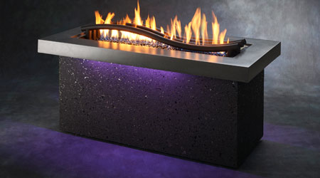 Outdoor greatroom introduces two new fire tables casual for Great outdoor room company