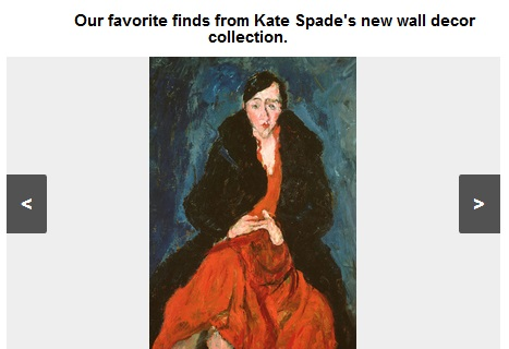 Kate Spade wall decor slideshow