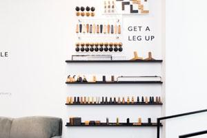 The Custom Leg Wall In Interior Define S New York Showroom