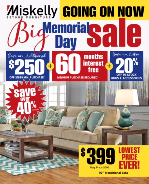 Miskelly Furniture Memorial Day Sale