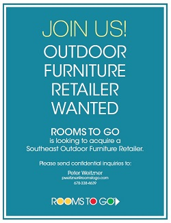 Rooms To Go Is Looking To Acquire An Outdoor Furniture Retailer To  Jumpstart A Move Into The Category. Part 38