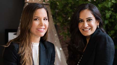 Designer Monique Lhuillier and Pottery Barn's Monica Bhargava