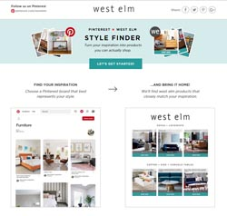 Pinterest x West Elm Style Finder