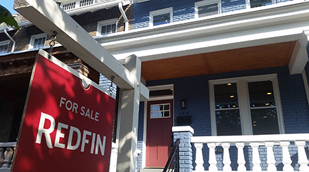 Redfin for sale sign 4x2