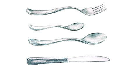 Flatware drawings