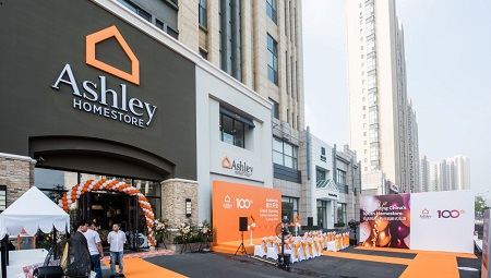 Ashley Homestore Opens 100th China Showroom Furniture Today