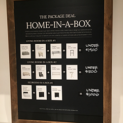 Pottery Barn Room in a Box sign