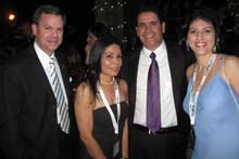 Bill Dominguez, left, AICO; Xiomara Corves, El Dorado Furniture, Miami; Alfredo Lopez, El Dorado Furniture, Miami Gardens, Fla.; and Leyci Rondon, El Dorado Furniture, Plantation, Fla.