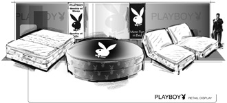 drawing Playboy mattress line