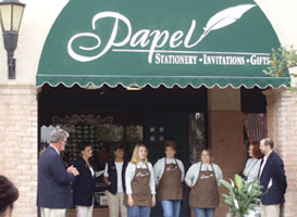 Owner Kim Mikeska credits her staff, Tana Massey and Nicole Matthews, with making Papel such a success.