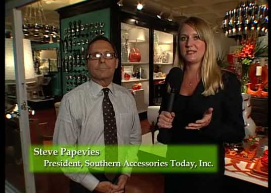 Tour Southern Accessories Atlanta Showroom with owner, Steve Papevies and Home Accents Today Editor Jenny Heinzen York
