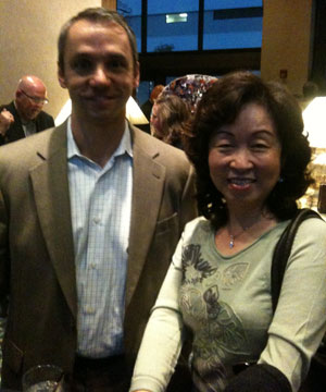 Henry Vanderminden and Margaret Chang at ICFA meeting