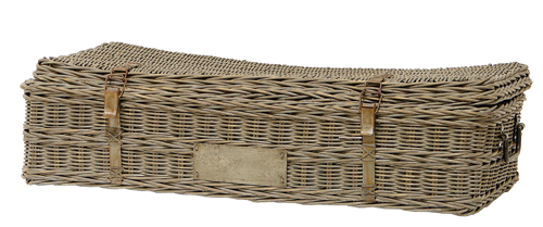 Woven wicker trunk from Palecek