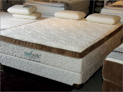 Part of the Cool-pedic line, this Kathy Ireland Designs Jardin mattress features pocketed coils, gel foam and Cool-pedic foam. In the queen size the mattress will retail for $999
