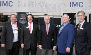 Doug Bassett, left, executive vice president of Vaughan-Bassett Furniture and vice chairman of the High Point Market Authority; Bob Maricich, CEO of International Market Centers; Strib Boynton, High Point city manager; Loren Hill, president of the High Point Economic Development Commission; and Tom Mitchell, IMC president, home furnishings.