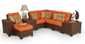 The Kokomo sectional from Palm Springs Rattan and Garden Classics