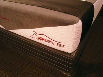 Ashley Sleep is one of the mattress vendors in the company's sleep store program.