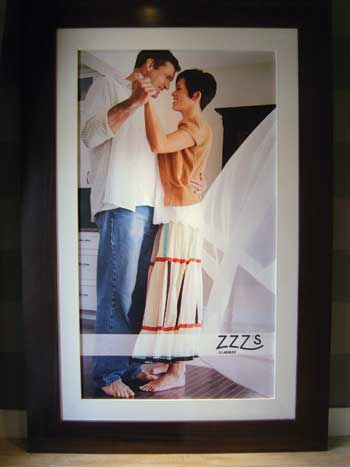 Lifestyle pictures in the store show the benefits of a good night of sleep.