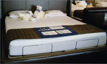 Headboards in the Tempur-Pedic section of the bedding department help give shoppers a sense of privacy.
