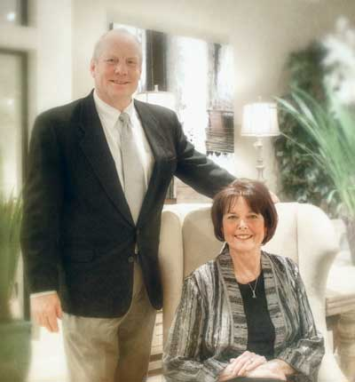 Veteran furniture retailers Scott and Carolyn Larrabee are back in business with Larrabee's Furniture & Design in the former Kacey Fine Furniture showroom.