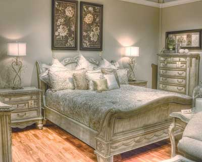 This French-inspired bedroom from Schnadig's Empire collection had sold multiple times, even before the official grand opening of Larrabee's Furniture & Design in Denver.